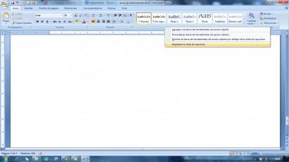 A partir de la versión de office 2007 sale una barra de tareas enorme que se puede solapar u ocultar y que se muestra cada vez que la necesitemos.
