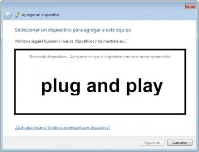 Nada mas colocar un dispositivo en nuestro PC estando apagado. Este lo reconoce al encenderlo porque el dispositivo es plug and play.