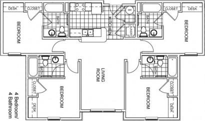 Un típico layuot de arquitectura, los nombres están en ingles pero podrían ponerse en cualquier idioma y seguiría siendo un layout.