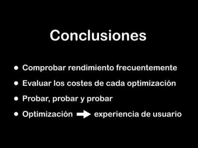 Una optimización es en realidad la manera de hacer que algo, lo que sea, funcione de la mejor manera posible.