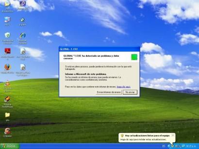 Uno de los primeros síntomas de que tenemos un virus es que el sistema operativo empieza a tener errores, en este momento sería una buena idea dejar que nuestro antivirus haga un escaneo en profundidad de nuestro PC. Sistemas operativos como windows xp son especialmente vulnerables, debido a la falta de soporte por parte de Microsoft.