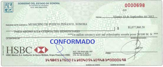 Cheque Conformado