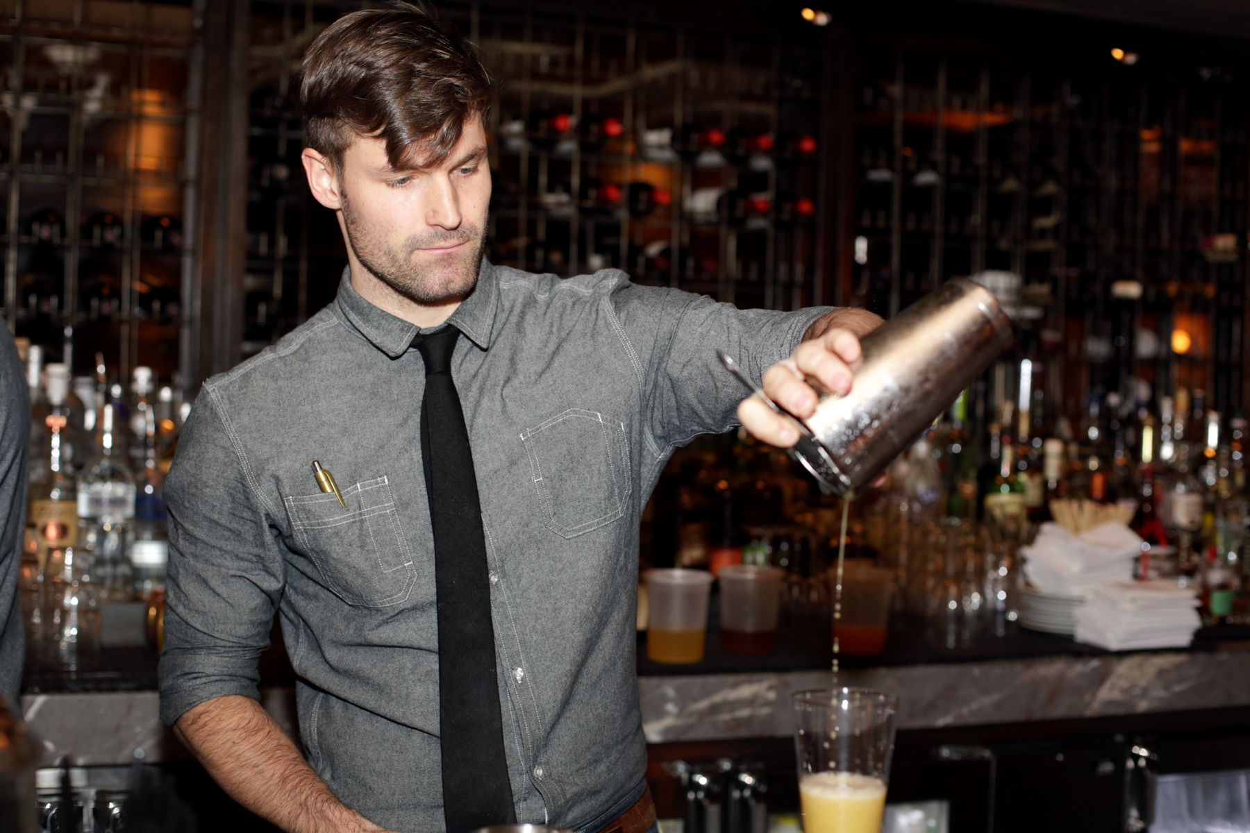 the bartender Is self-serve wine and beer a good idea for your business.