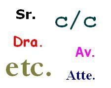 abreviatura