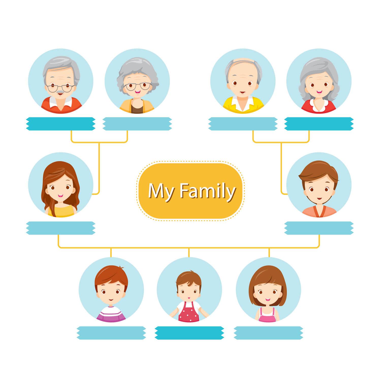 Definici n de rbol geneal gico concepto en definici n abc for Concepto de la familia para ninos