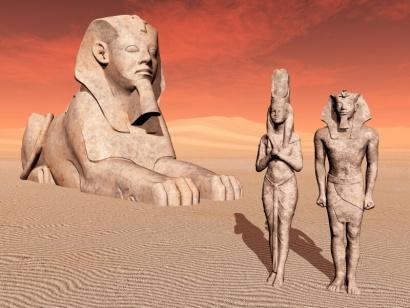faraon-estatua