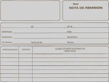 nota de remision